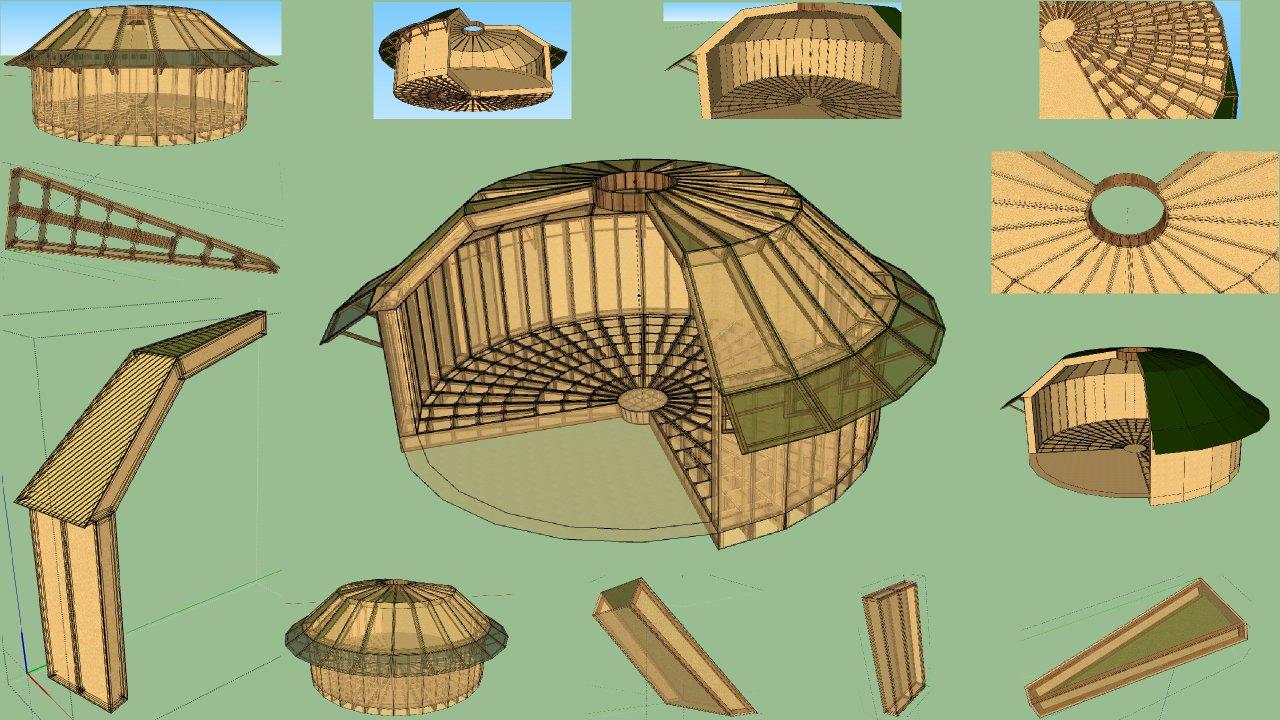 hellomerci construisez votre co maison ronde en bois. Black Bedroom Furniture Sets. Home Design Ideas